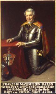 Afb. 2. mr. François Maximiliaan baron van der Duyn, heer van Maasdam (1807-1889), op zijn portret als Landcommandeur van de Ridderlijke Duitsche Orde van Utrecht, foto met dank aan www.rdo.nl.