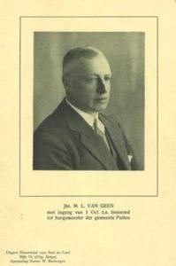 Afb. 2. Jonkheer Mathieu Lambert van Geen (1883-1970), foto met dank aan het gemeentearchief Putten op www.putten.nl.