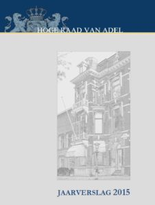 Afb. Voorkant van het jaarverslag 2015 van de Hoge Raad van Adel.