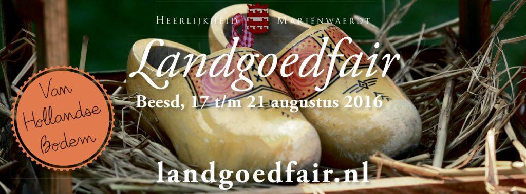 Afb. 1. De flyer van de landgoedfair. Foto met dank aan www.marienwaerdt.nl.