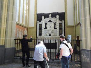 Opnames bij het Van Heeckeren grafmonument in Zutphen.