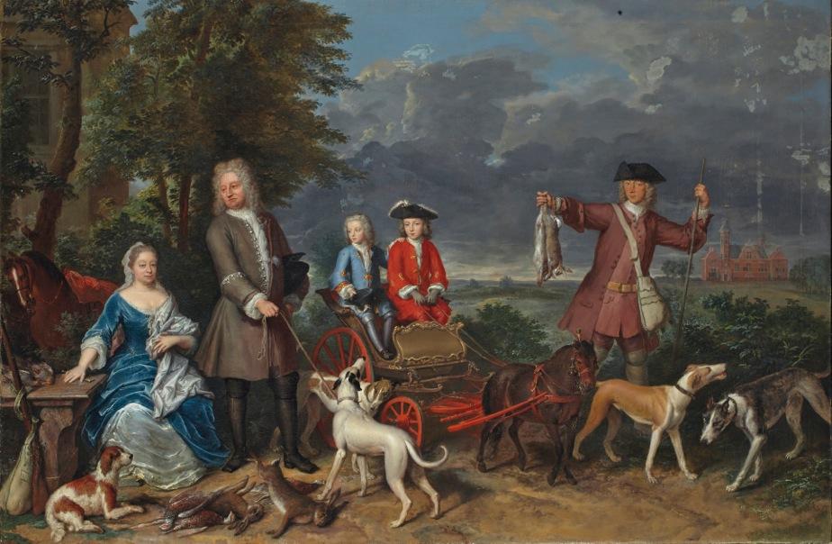 Afb. 2. Het familieportret Quarles-Splinter van Loenersloot door Gerard Hoet. Foto met dank aan het Haags Historisch Museum.
