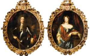 Afb. Johan Ortt (1642-1701) en echtgenote Anna Pergens (1650-1733). Portretten door Nicolaas Maes, part. coll.