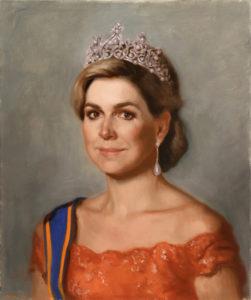 Afb. 2. Urban Larsson, 'Studie voor het Portret van koningin Maxima', 2016, olieverf op doek, collectie van de kunstenaar.