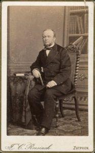 Afb. 4. Ludolph Anne Frederik Hendrik baron van Heeckeren van Waliën (1817-1889), stadsarchivaris van Zutphen en oprichter van de voorloper van het Stedelijk Museum. Foto part. coll.