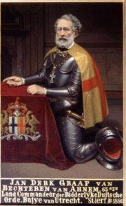 Afb. 2. Johan Derck graaf van Rechteren, heer van Ahnem (1799-1886), als Landcommandeur op zijn portret in het bezit van de Ridderlijke Duitsche Orde in Utrecht.
