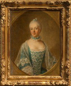 Afb. 1. De schrijfster Belle van Zuylen, die voluit Isabella Agneta Elisabeth van Tuyll van Serooskerken heet en opgroeide op Slot Zuylen. Portret door Guillaume de Spinny met hartelijke dank aan Slot Zuylen.