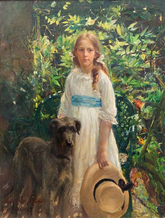Afb. Freule Nora van Rappard op haar portret door Albert Roelofs uit 1913. Foto met hartelijke dank aan het Venduehuis Den Haag.