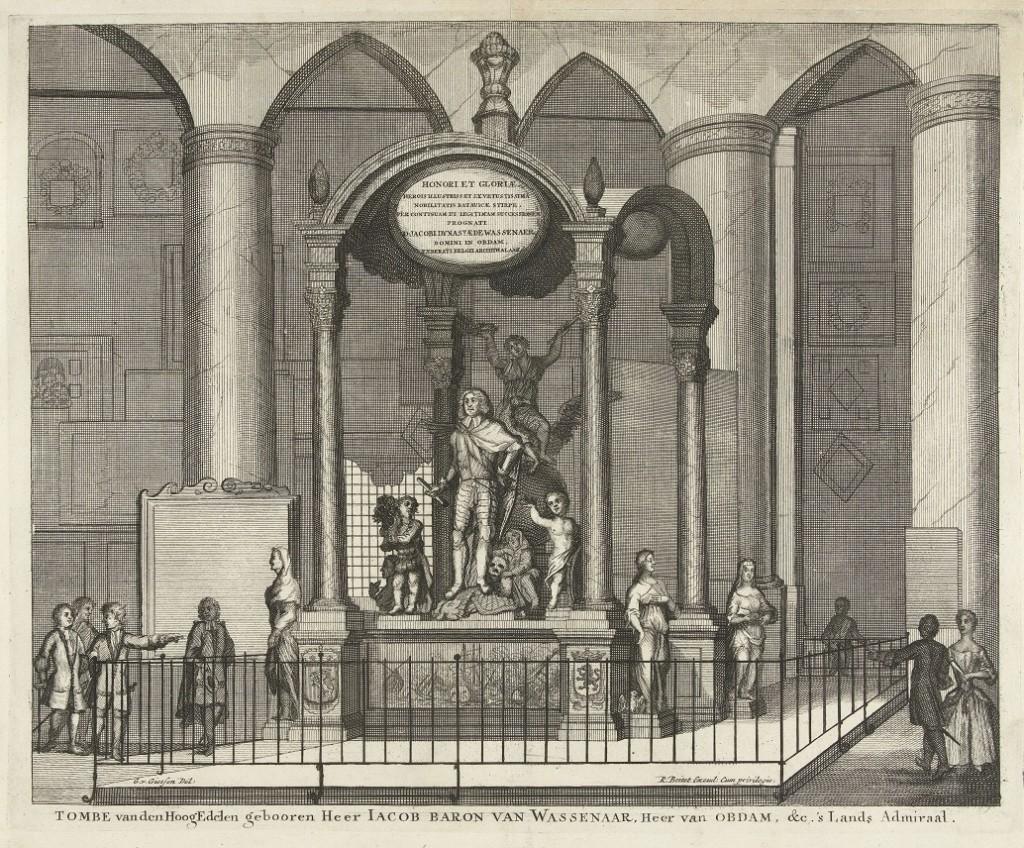 Wassenaer, Jacob van, gravure grafmonument