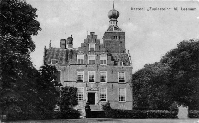 Het inmiddels verdwenen Kasteel Zuylestein bij Leersum