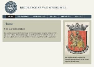 Ridderschap van Overijssel, website