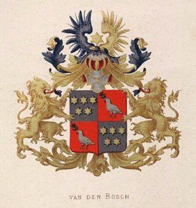Afb. Het grafelijk familiewapen Van den Bosch