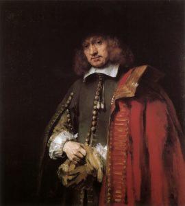 Afb. 2. Jan Six (1618-1700) door Rembrandt van Rijn in 1654, coll. Six, Amsterdam