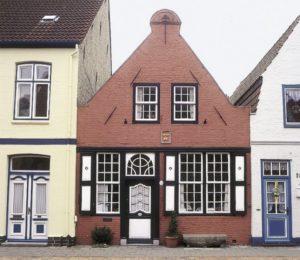 Afb. 3. Het Laman Trip Huis in Friedrichstadt, foto met dank aan M.L. Preiss, Deutsche Stiftung Denkmalschutz.