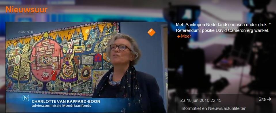 Afb. Screenshot van drs. Charlotte van Rappard-Boon uit de uitzending van Nieuwsuur van 18 juni 2016.