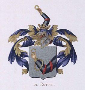 Afb. Het familiewapen De Rotte.
