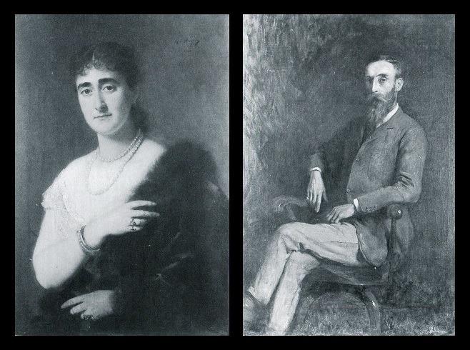 Afb. Anna Mathilda gravin van Limburg Stirum (1854-1932) en echtgenoot William Charles Reginald baron van Tuyll van Serooskerken, heer van Coelhorst (1845-1903).