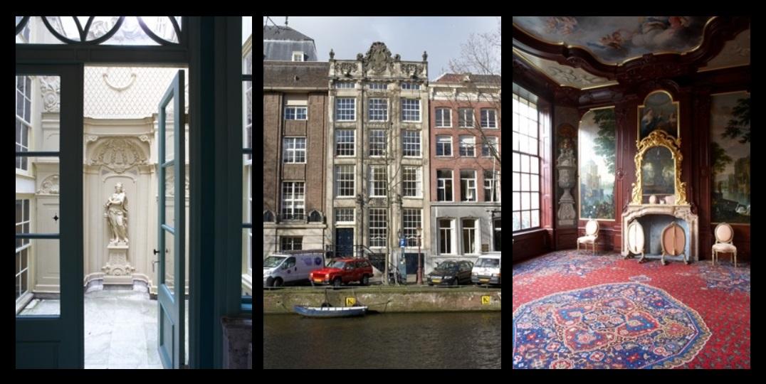 Afb. In- en exterieur van Huis van Brienen in Amsterdam, foto's met dank aan Vereniging Hendrick de Keyser.