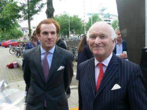 Afb. 2. Jonkheer mr. Louis van Lennep met zijn zoon jonkheer Henri van Lennep, foto met hartelijke dank aan www.skbl.nl.