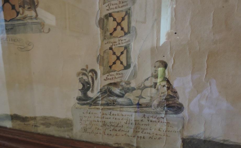 Afb. Ridder Adam van Lockhorst op de stamboom van het geslacht Van Lockhorst, coll. kasteel Heeswijk.