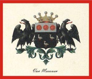 Afb. Het familiewapen Van Meeuwen.