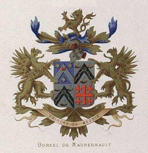 Afb. 5. Het familiewapen Boreel de Mauregnault.