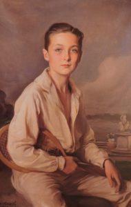 Afb. 2. Jonkheer John Hugo Loudon, portret door Philip Alexius de László (1869-1937) uit 1920, met op de achtergrond de tuin en het park van Voorlinden. Foto met dank aan 'De László in Holland' (2006) door Tonko Grever en Annemieke Heuft.