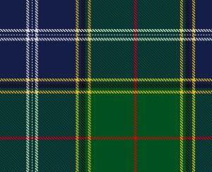 Afb. 3. De Tartan van de Clan Pringle - in 1998 nieuw ontworpen. Foto met dank aan www.clanpringle.co.uk.