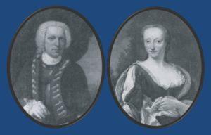 Afb. 2. Unico Evert Alberda tot Vennebroek (1714-1794) en zijn eerste echtgenote Theodora Elisabeth de Sigers ter Borch. Foto's met dank aan 'Huizen van stand' onder redactie van J.Bos, F.J. Hulst en P. Brood.