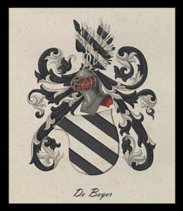 Afb. 1. Het familiewapen De Beyer.