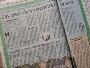 Afb. 'Elisabeth, de mysterieuze gravin', artikel in De Stentor van 29 oktober 2016.