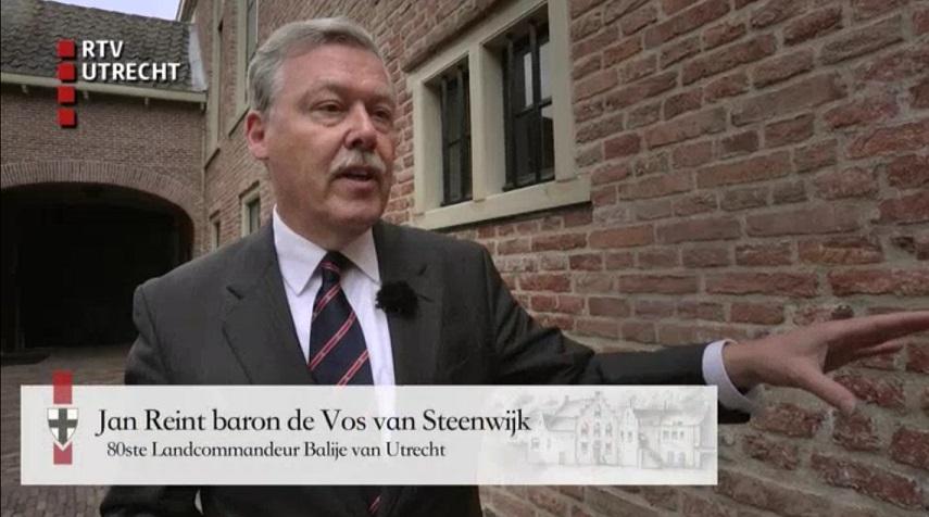 Afb. Jan Reint baron de Vos van Steenwijk, screenshot met dank aan RTV Utrecht.