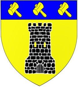 Afb. 1. Het wapen Boël. Afbeelding met dank aan Mimich - Eigen werk, CC BY-SA 3.0, https://commons.wikimedia.org/w/index.php?curid=9102615.