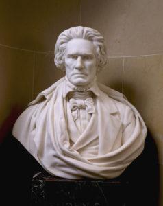 Afb. 1. Vice-president John C. Calhoun, borstbeeld door Theodore Augustus Mills. Foto met dank aan www.senate.gov.