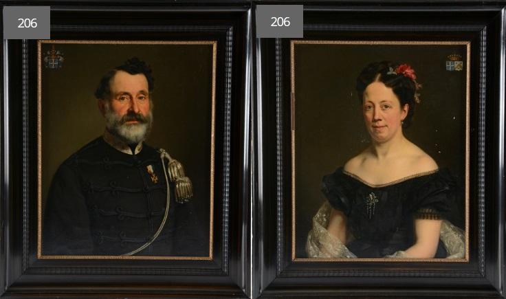 Afb. Het echtpaar Van der Capellen-Sandberg. Foto's met dank aan Notarishuis Arnhem.