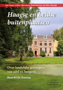 Afb. De voorkant van het boek 'Haagse en Leidse buitenplaatsen.