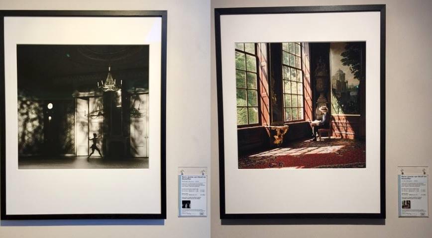 Afb. 2 en 3. Twee van de op PAN Amsterdam tentoongestelde foto's van Marie-Jeanne van Hövell tot Westerflier.