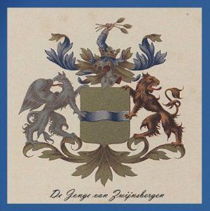 Afb. Het familiewapen De Jonge van Zwijnsbergen.
