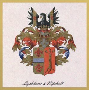 Afb. 3. Het familiewapen Lycklama à Nijeholt .