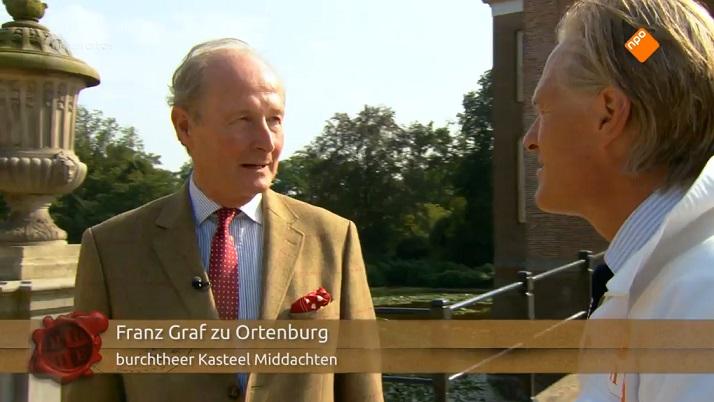 Afb. Franz Graaf zu Ortenburg in 'Hoe heurt het eigenlijk?' Screenshot met dank aan 'Hoe heurt het eigenlijk?'