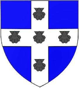 Afb. 2. Het familiewapen De Selys Longchamps. Afbeelding met dank aan Mimich - Eigen werk, CC BY-SA 3.0, https://commons.wikimedia.org/w/index.php?curid=9100410.