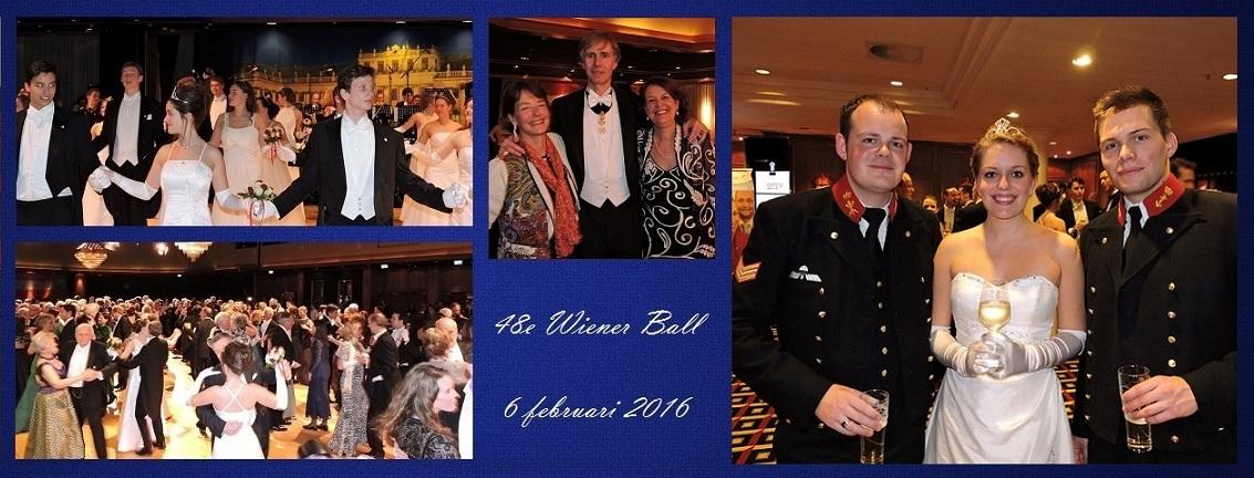 Afb. Een compilatie van foto's van het Wiener Ball begin dit jaar.