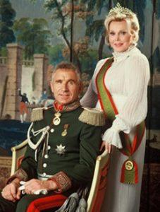 Afb. Frederic Prinz von Anhalt en echtgenote Zsa Zsa Gabor. Foto met dank aan de website van meneer Prinz von Anhalt: http://prinz-frederic.com.