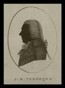 Afb. 2. Jonkheer Franciscus Xaverius Verheyen (1779-1851), die in 1831 in de Nederlandse adel verheven werd. Gravure part. coll.