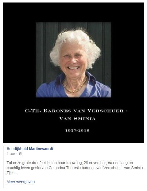 Afb. Screenshot met dank aan de facebookpagina van Heerlijkheid Mariënwaerdt.