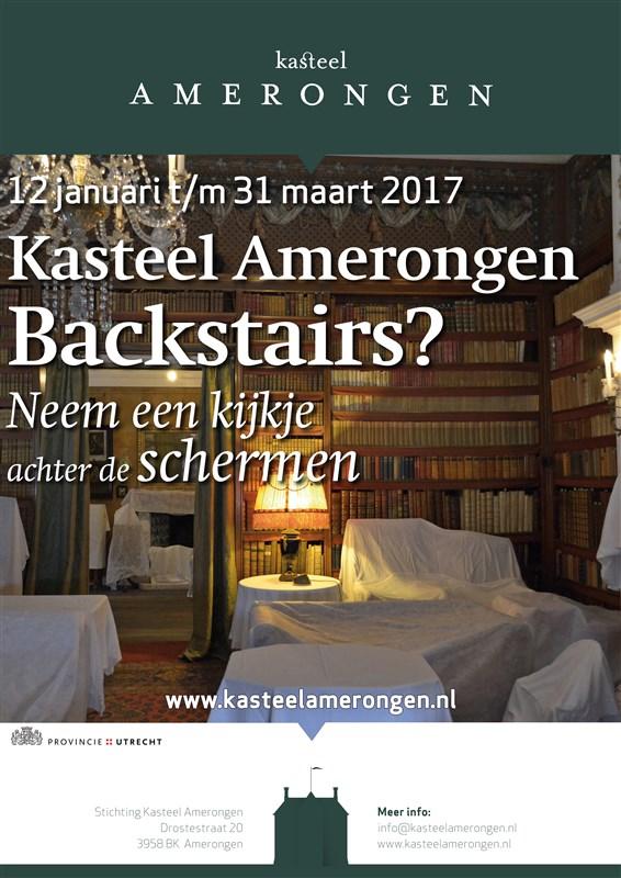 Afb. De kasteelbibliotheek van Amerongen in winterslaap. Foto met dank aan www.kasteelamerongen.nl.