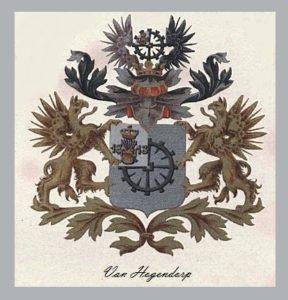 Afb. Het familiewapen Van Hogendorp.