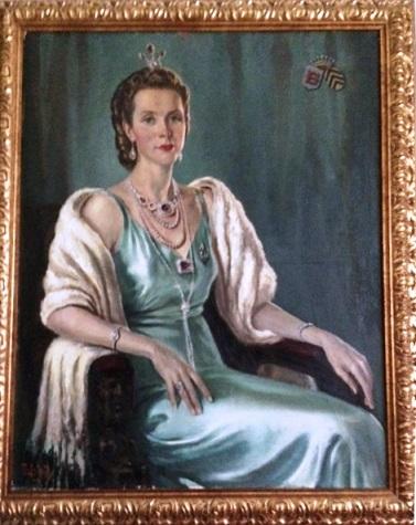 Afb. 1. Simonette Marie barones van Nagell née barones van Haersolte van Haerst (1914-1990). Portret door Dick van Diest in part. bezit.