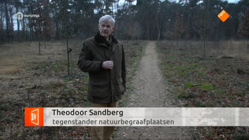 Afb. Jonkheer Theodoor Sandberg in EenVandaag. Screenshot met dank aan EenVandaag.