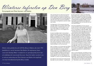 Afb. 2. Interview met Floor barones van Dedem.